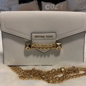 Michael Kors Optic White Crossbody / Wristlet